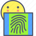 fingerprint, secure, unlock icon