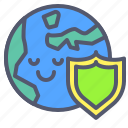 earth, global, globe, protection, security, shield