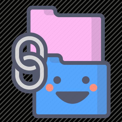 copy, files, folder, link icon