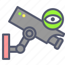 camera, eye, film, surveillance icon