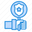 badge, cyber, secure, security, shield, technology icon
