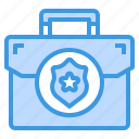 bag, business, cyber, secure, security, shield, technology icon