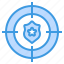 cyber, secure, security, shield, target, technology icon