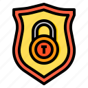 cyber, lock, secure, security, shield, technology icon