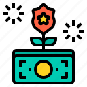 cyber, money, secure, security, shield, technology icon