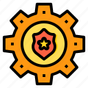 cyber, secure, security, setting, shield, technology icon
