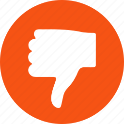 bad reputation, cancel, die, fail, false, negative result, thumb down icon