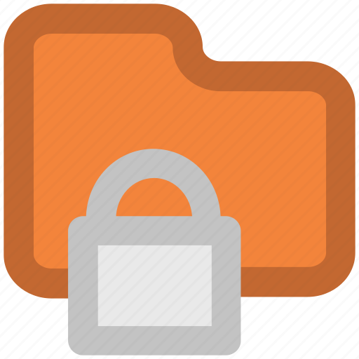 computer folder, confidential, data security, digital security, important files, informations, paperwork icon