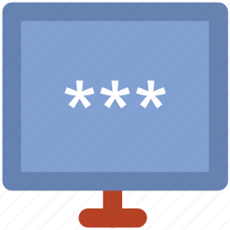 code word, computer password, computer security, digital protection, login, privacy, watchword icon