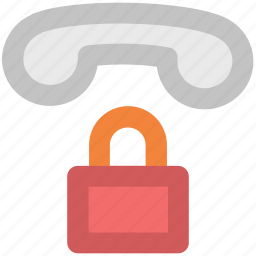 communication protection, dial code, handset, lock sign, operator service, telephone, telephone receiver, telephone service icon
