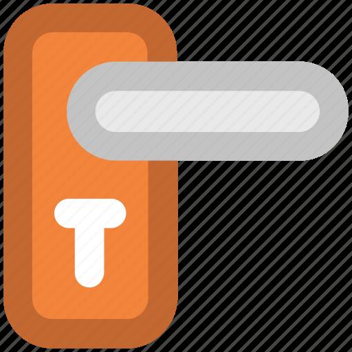access symbol, door handle, doorknob, entry, keyhole, locked, residential icon