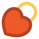 affection, heart care, locked heart, love sign, padlock, passionate, romance icon