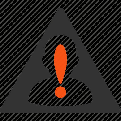alert, black list, blacklisted user, customer, danger, risk management, warning icon