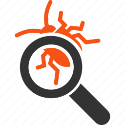 antivirus, bug, debug, debugger, locate, protection, virus icon