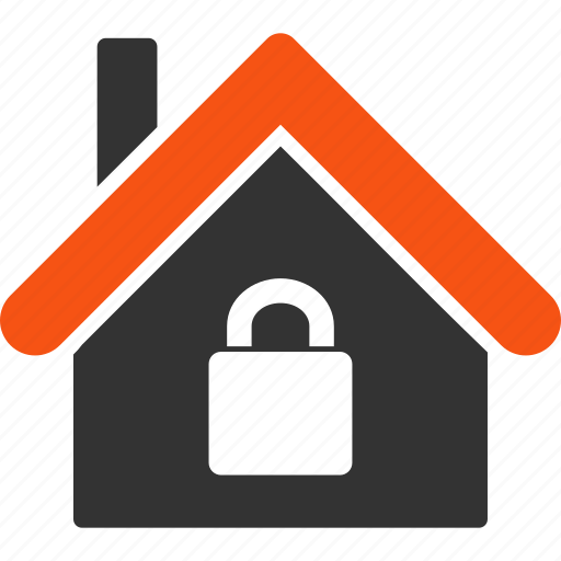 apartment, home, lock, locked house, private, protection, safety icon
