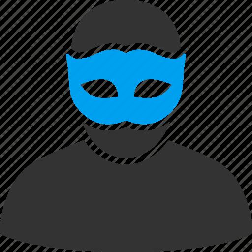 avatar, carnival, hidden, mask, person, private, profile icon