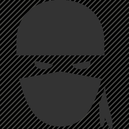 avatar, crime, head, murder, ninja, samurai, thief icon