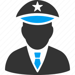 cap, cop, guard, military, police officer, policeman, sheriff icon