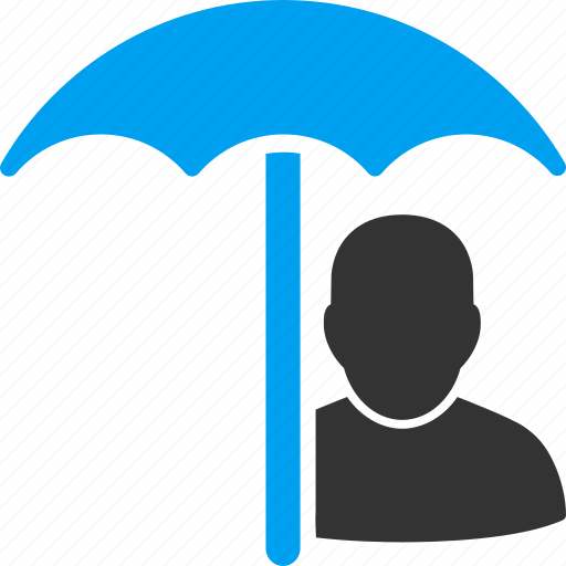 account, insurance, person, profile, protection, umbrella, user icon