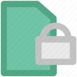 confidential, data encryption, data security, digital security, important files, informations, paperwork icon
