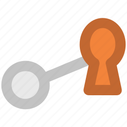keyhole key, locked, privacy, protection, security, security equipment icon