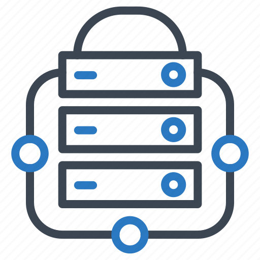lock, protect, security, server, shield icon