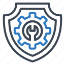 lock, manage, protect, security, shield icon