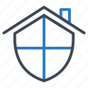 home, lock, protect, security, shield icon