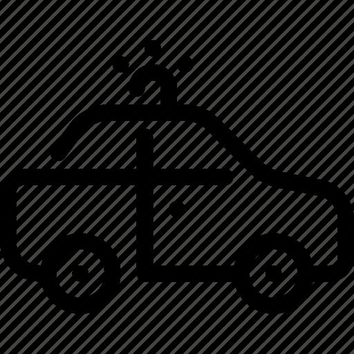 car, cop, police, security, transport icon