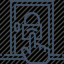 access, control, door, lock, protection, security icon