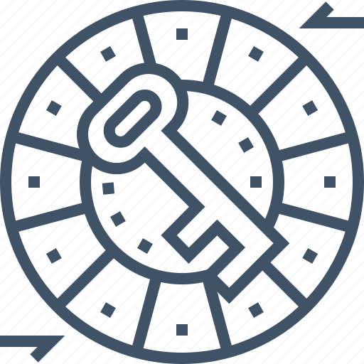 caesar, cipher, files, password, protection, security icon