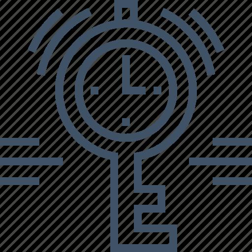 key, keyword, one, password, session, time icon