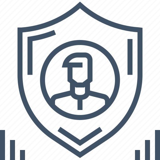 data, personal, protection, safety, secured, security, shield icon