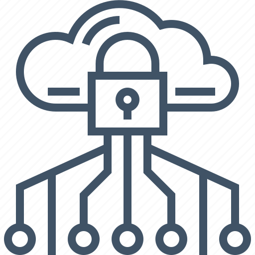 cloud, computing, connection, lock, padlock, secured, security icon
