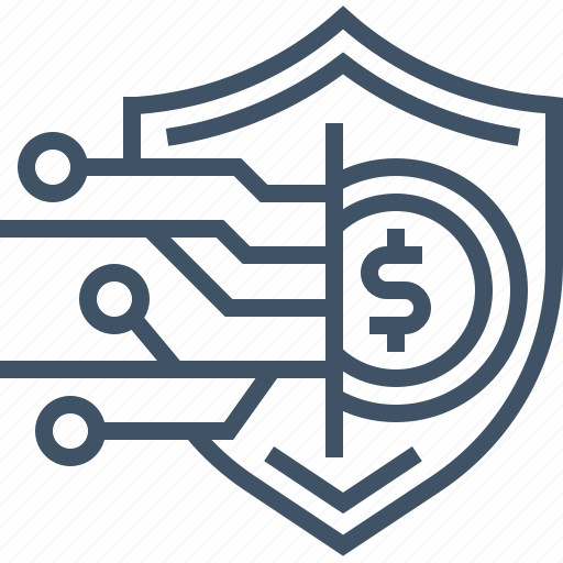 coin, money, payment, protection, safety, secured, security icon