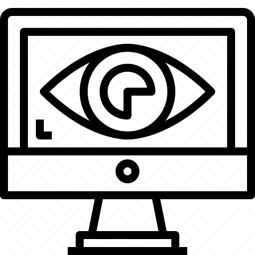 computer, digital, eye, secuirty, secure, visibility, vision icon
