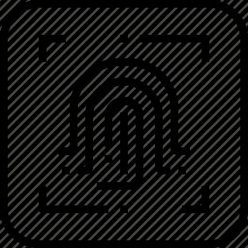 finger, fingerprint, scan, secure, security icon