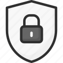 lock, padlock, password, protection, security, shield icon