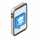 insecure, insecure device, insecure mobile, insecure phone, insecure smartphone icon