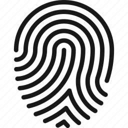 finger, fingerprint, identity, print, protection, security, touch icon