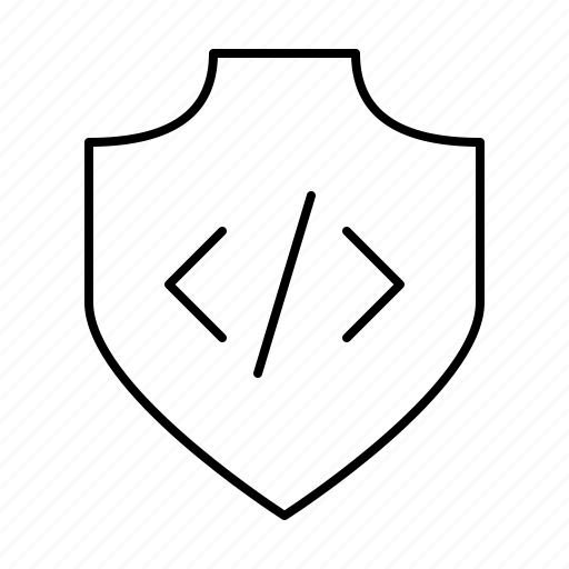 code, location, protection, safety, secure, security, shield icon