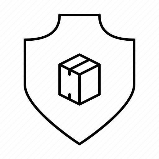 parcel, protection, safety, secure, security, shield icon