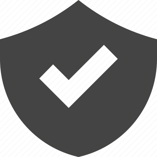 check, safety, security, shield icon