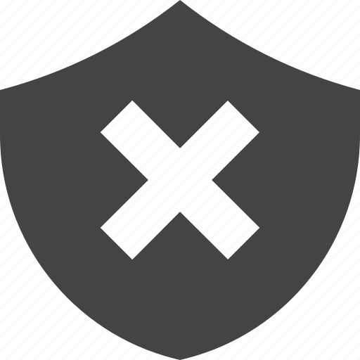 delete, safety, security, shield icon