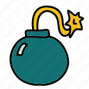 bomb, danger, safety, security icon