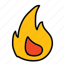 danger, fire, flame, security icon