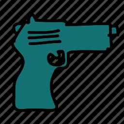 danger, gun, safety, security, violence icon