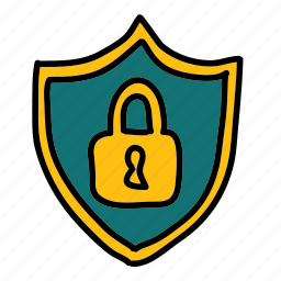 badge, lock, safety, security, shield icon