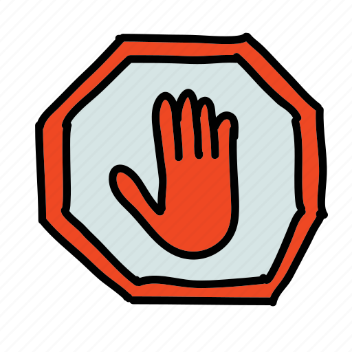safety, security, sign, stop icon