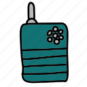 communication, contact, radio, security, talk, talkie, walkie icon